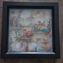 Handmade Apothecary themed boxed frame #2