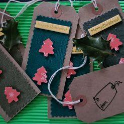 6 x Handmade Christmas Tree Gift Tags (1)
