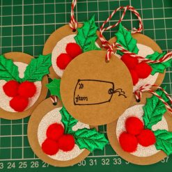 Handmade Holly and Berry Christmas Gift Tags