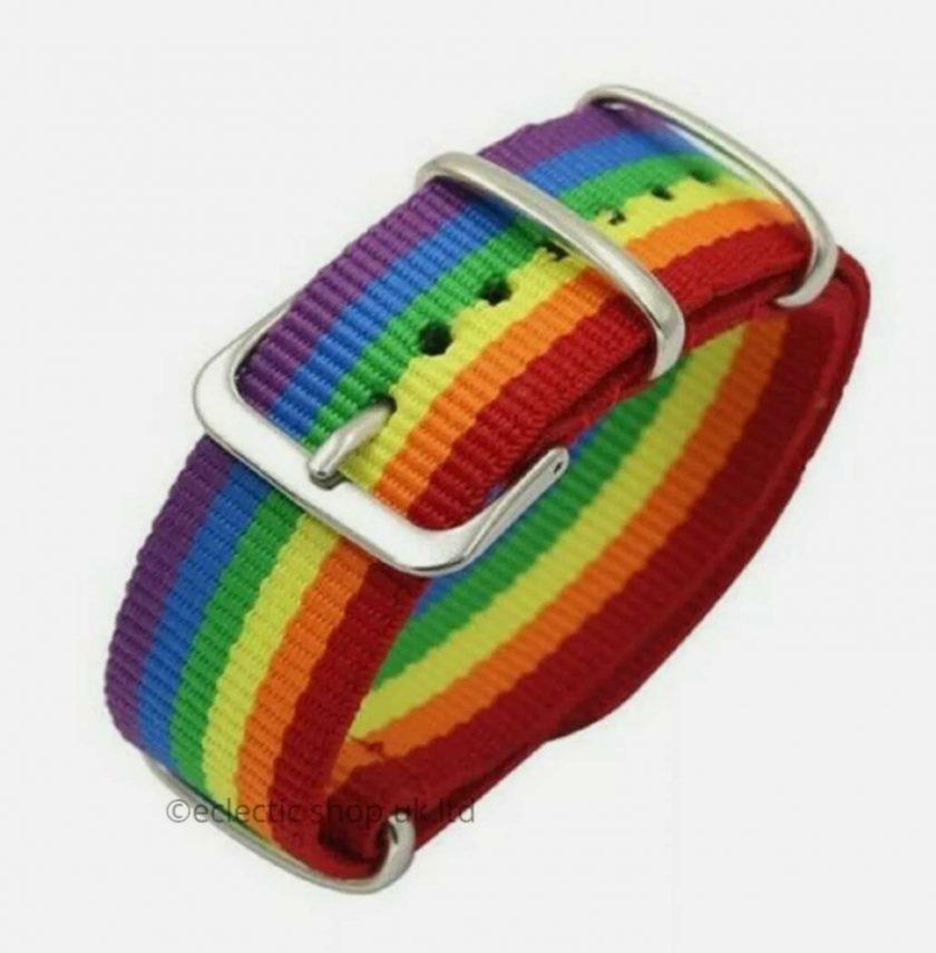 Rainbow buckle BRACELET.LBGT.FREE POSTAGE 1