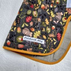 Quilted dog jacket - Woodland print (small) 3