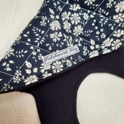 Quilted dog jacket - Navy floral (Extra, Extra Small) 3