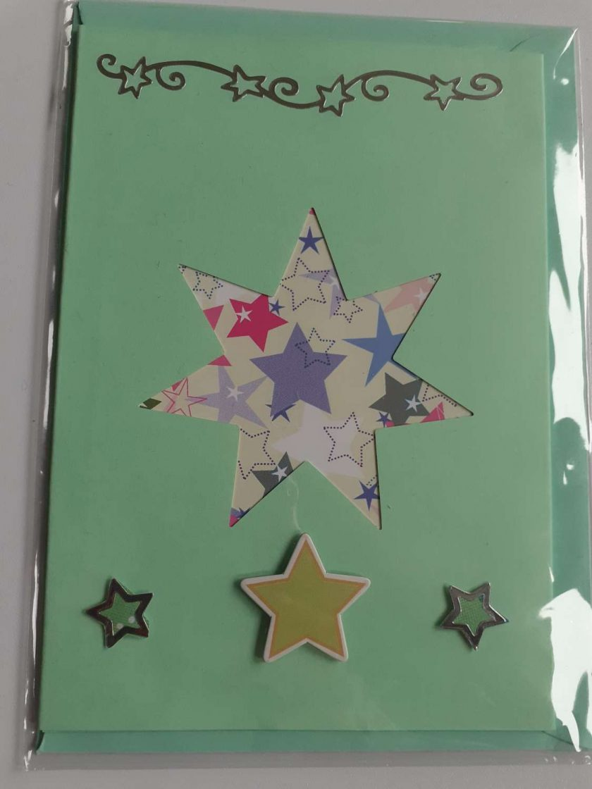handmade star christmas card 1