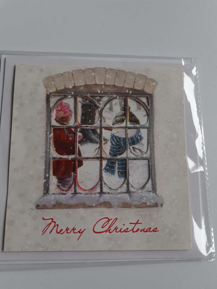 handmade christmas window card 1