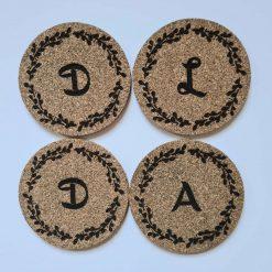 Personalised Cork Coasters