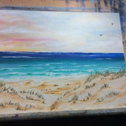 Sand castles. Oil painting on a 25cmx20cm canvas board