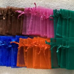 50 Brightly Coloured Small Organza Gift Bags 11