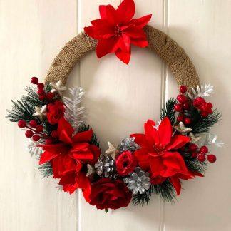 'Sharon' faux flower wreath