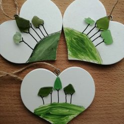 Cornish Tree Heart (white or handpainted) 2