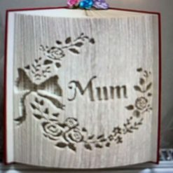 Mum Wreath Book Fold