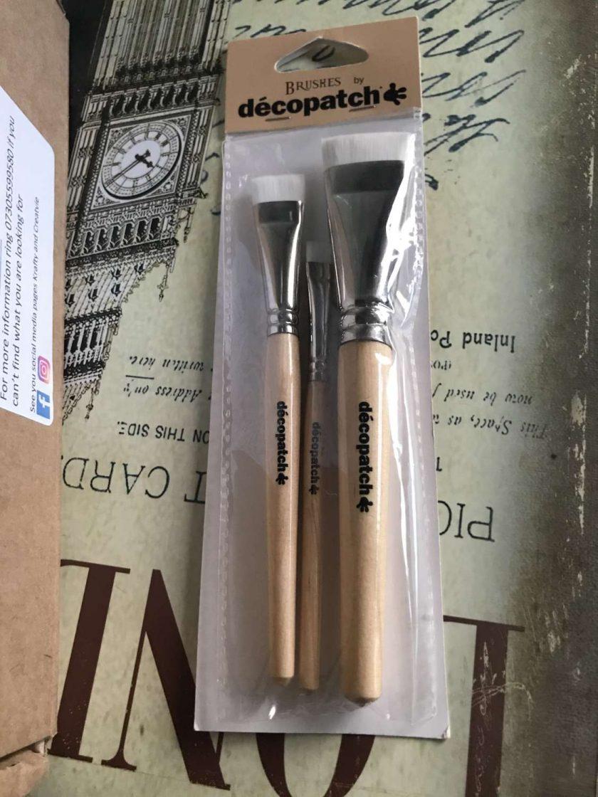 Decoupage Silk Brushes set of 3 1