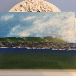 Gribben Head st Austell on a 30cmx23cm canvas board painted with oils