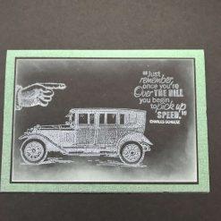 Happy birthday car card