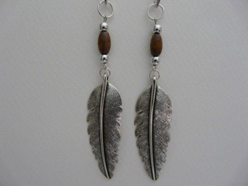 Feather Beaded Earrings 1