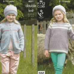 King Cole - Knitting Pattern - Jacket, Top & Hats Half Price!