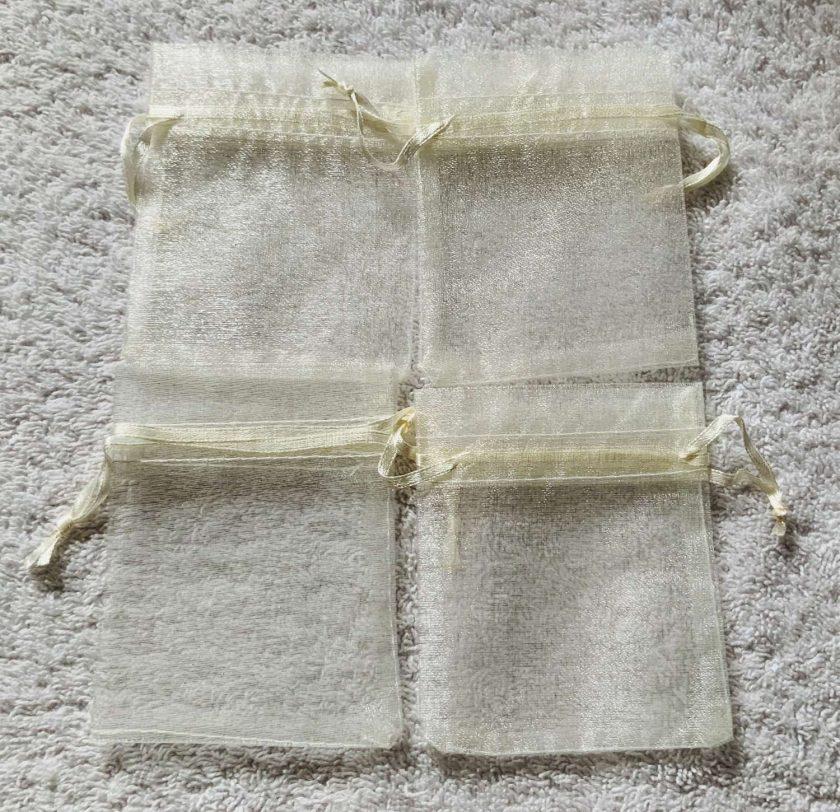 50 Christmas Green Small Organza Gift Bags