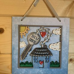 A New home hand painted 3D wall plaque