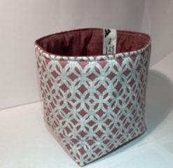 Fabric vanity box/bag - Pink Geo