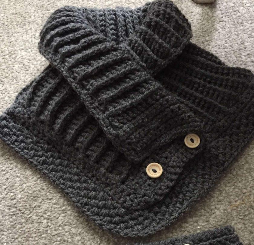 1 only Winter woolies neck & ear warmer set 2
