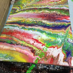 Colourful bedazzle abstract acrylic painting