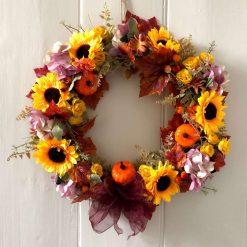 'Harriet' faux flower wreath