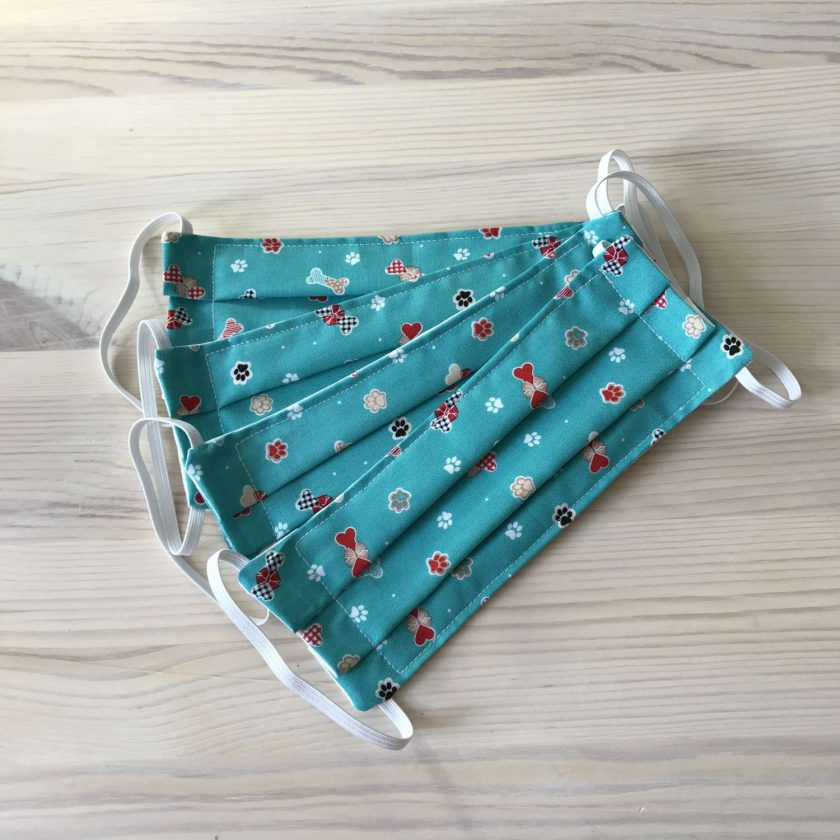 100% Cotton Face Covering (Doggy Bones) 3