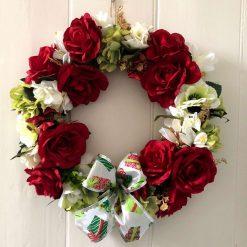'Peggy' faux flower wreath