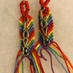 Rainbow Pride 🌈 Earrings with Love Charm 6