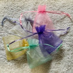 50 Pastel Coloured Small Organza Gift Bags