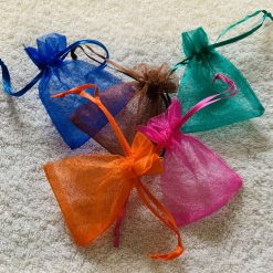50 Brightly Coloured Small Organza Gift Bags 7