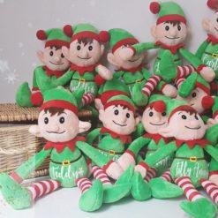 Personalised plush elf