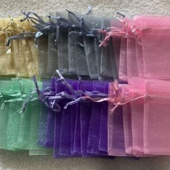 50 Pastel Coloured Small Organza Gift Bags 11