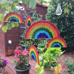 Fused Glass Rainbow Hanging