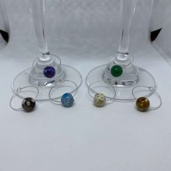 Wine Glass Gemstone Charms