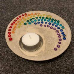 Candle Bowl, Concrete Rainbow