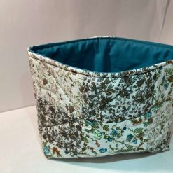 Fabric vanity box/bag - Flower Patch