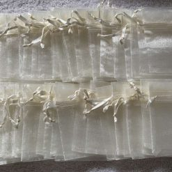 50 Ivory Cream Small Organza Gift Bags 11