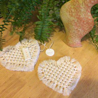 Boho Heart Coasters set of 4 (free p&p)