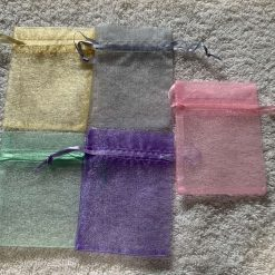 50 Pastel Coloured Small Organza Gift Bags 10