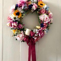 'Wendy' faux flower wreath