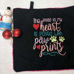 Dog Paw Towel - The Road to my Heart