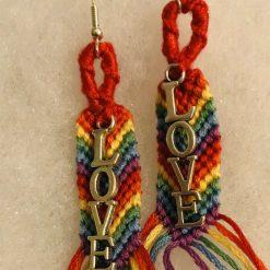 Rainbow Pride 🌈 Earrings with Love Charm 5