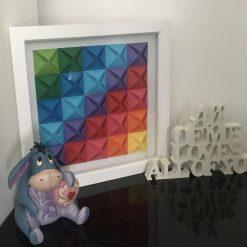 Large 3D geometric paper picture
