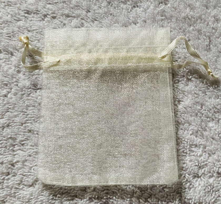 50 Ivory Cream Small Organza Gift Bags 4