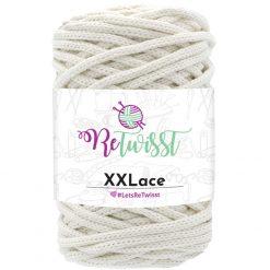 ReTwisst XXLace 100% recycled yarn Beige, knit/crochet/macrame