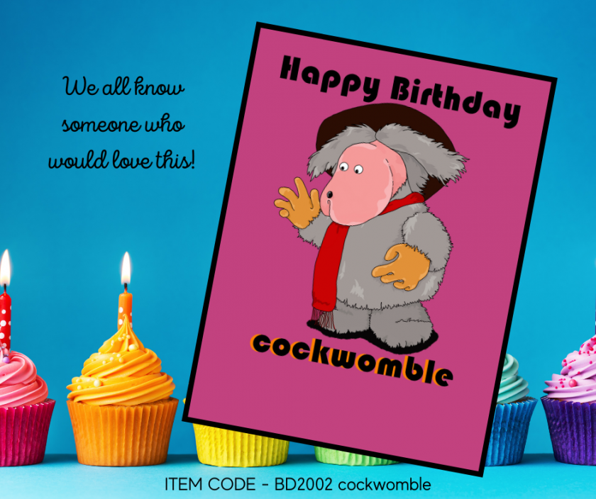Cockwomble Birthday Card 1