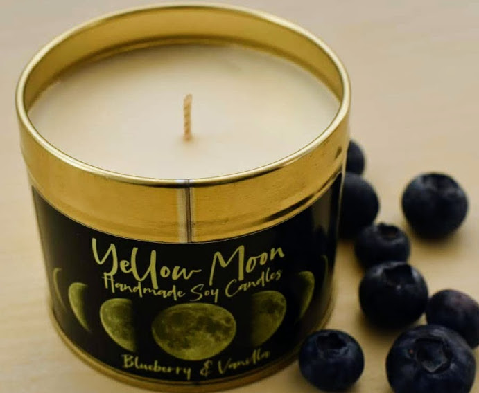 Blueberry & Vanilla Scented Candle