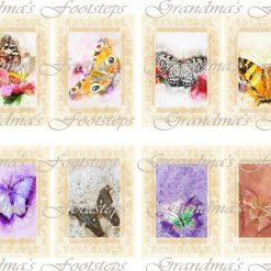 Butterflies, Journal Ephemera, Labels, Tags, Junk Journal, Card Making, Journal Cards, ATC, Card Toppers.