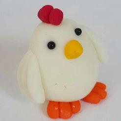 Mini hen - glow in the dark - chicken - cockerel - gift - cake topper 1