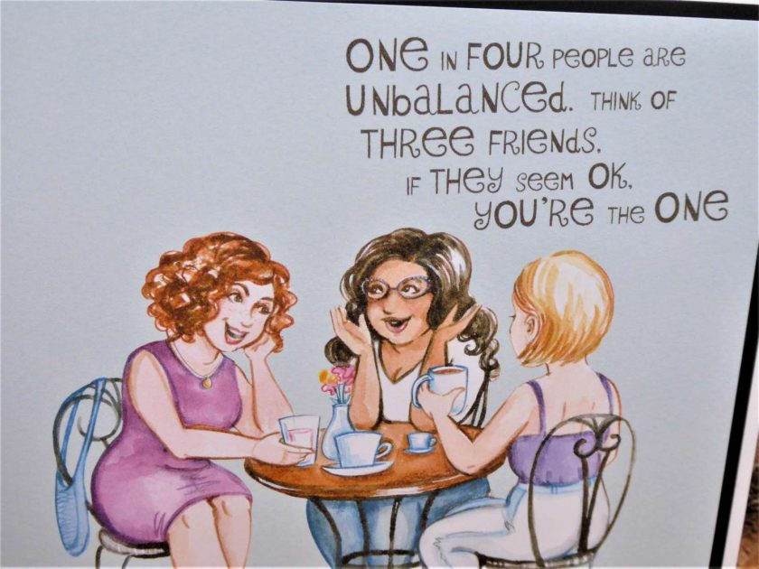 C3287 -  Card - One in four people ... 3